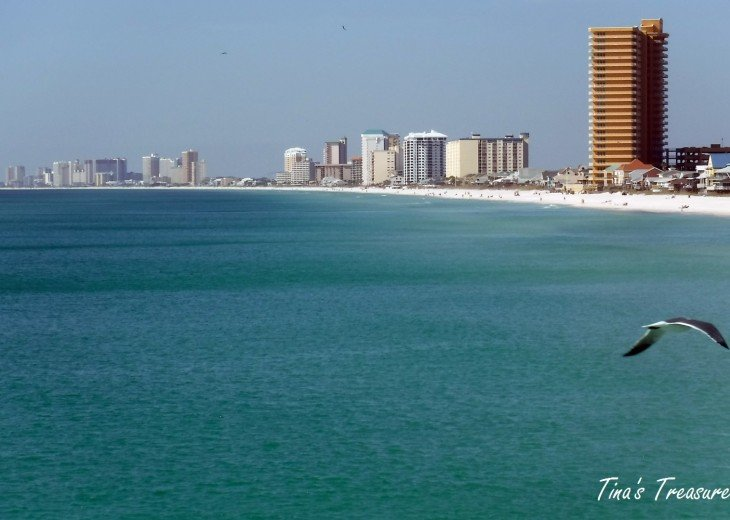 Treasure Island Resort Building from the Gulf of Mexico
