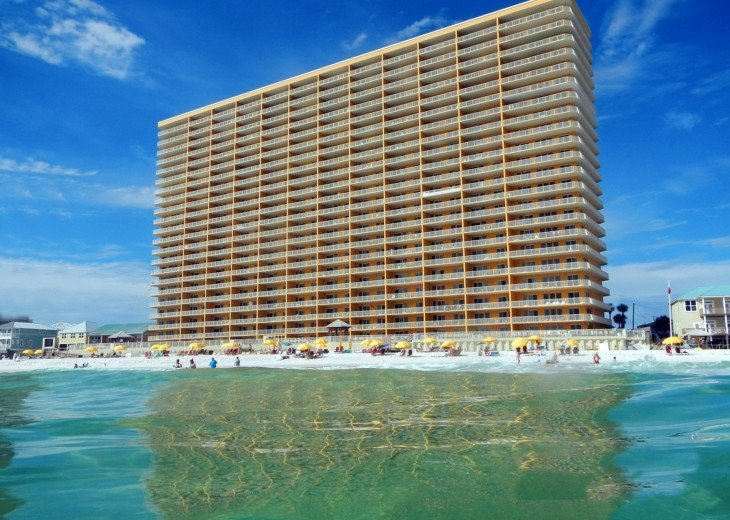 Treasure Island Resort Building from Gulf of Mexico