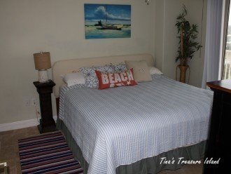 Guest bedroom 3 with King Bed, HD Flat screen TV, DVD player and balcony access