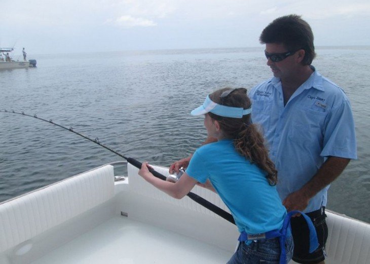 Bring the kids. They love it on the big water with the big fish.