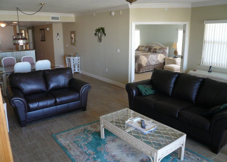 Living room & view of Master Bedroom & dining room and kitchen