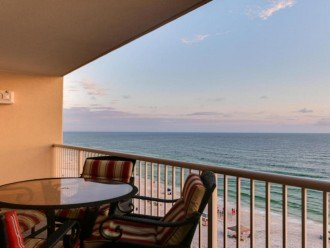 Table and chairs to enjoy the beautiful Gulf of Mexico on our large balcony