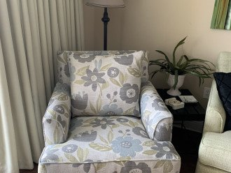 Cozy chair with view of the gulf!
