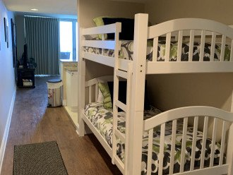 Twin bunk beds!