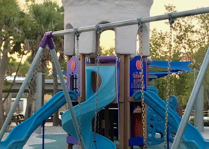 Playground at Siesta Key Main Beach is new, and really nice