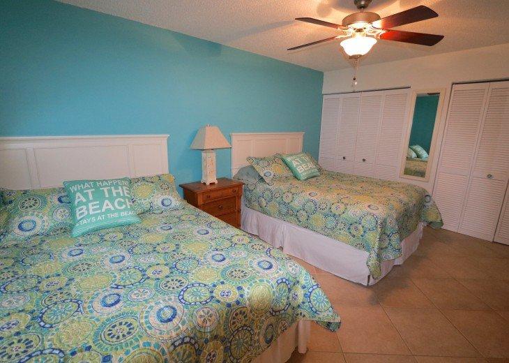 2 Queen Beds, 2 large closets, dresser etc