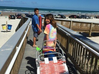 Beach cart, chairs, coolers, toys, towels - all provided for your convenience.