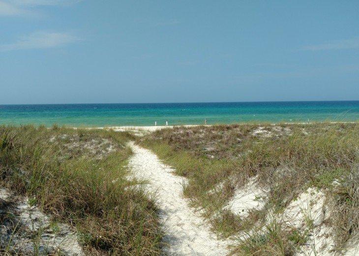Walking trail to the beach