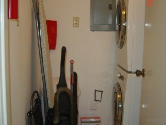 laundry facility: washer and dryer, vacuum cleaner, broom, etc..