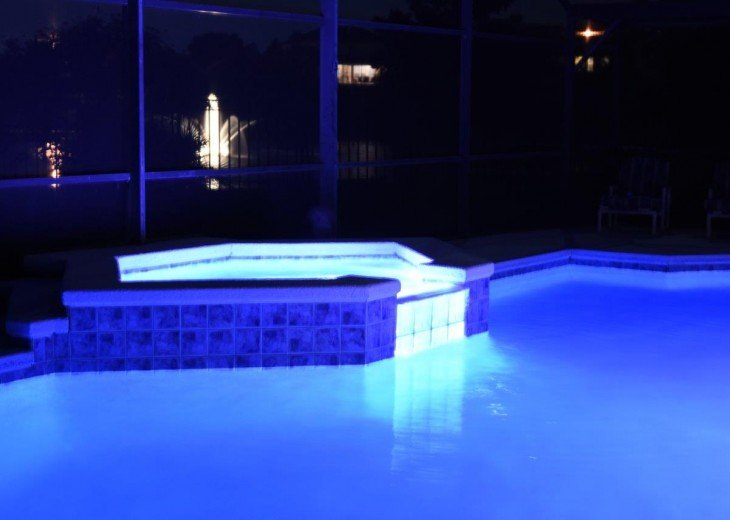 Pool SPA at night