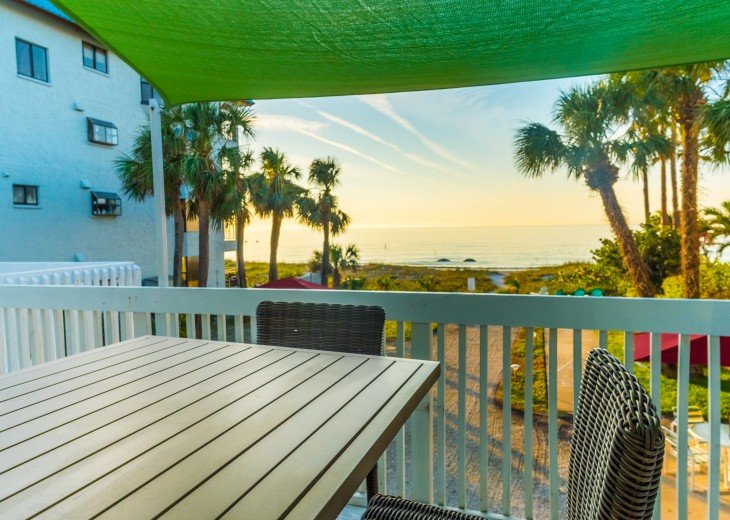 Your view from your upstairs beach cottage apartment