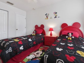 Mickey twin room with TV and DVD