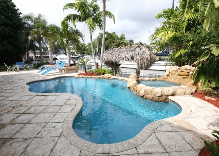 Fantastic Waterfront Pool and Spa Home with Dock and Minutes to Beaches #1