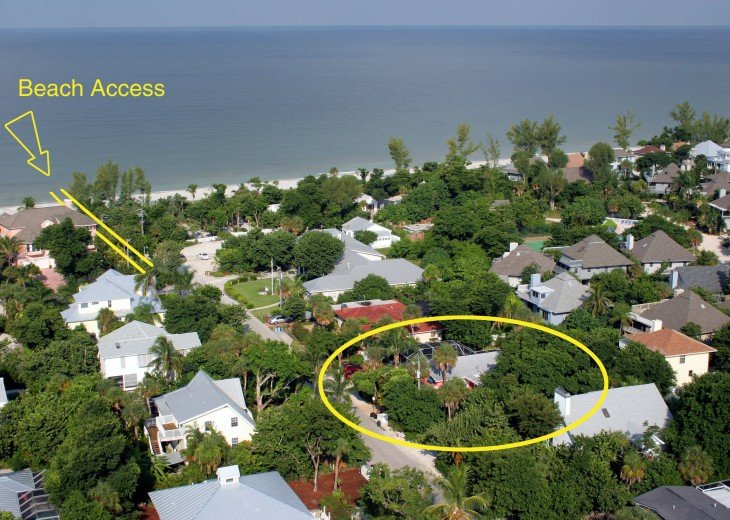 Areal View Showing Gulf Beach and Beach Access
