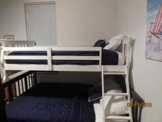 Lower Level Bunk Room w/ 1 twin over full & 1 twin over twin bunk