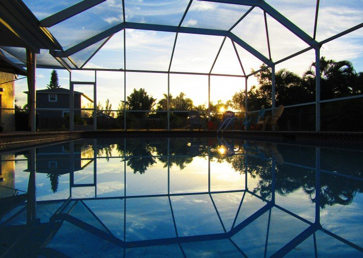 outdoor area on sunrise