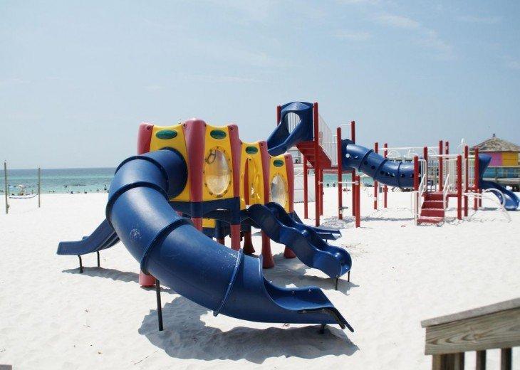 Beach playground 1/4 mile up the beach