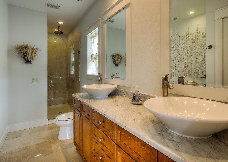 Master Bedroom #2 bath with jacuzzi tub and rain head shower