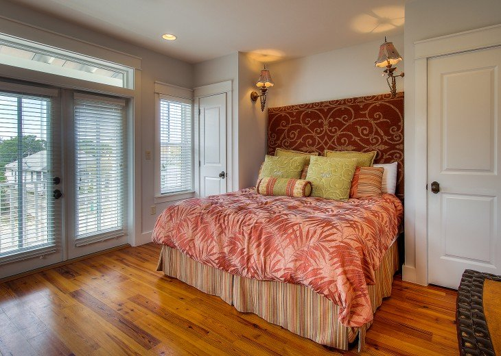 Master Bedroom #2 with a king bed. Main house-