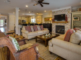 Living/Family Room- Open to kitchen and dining area