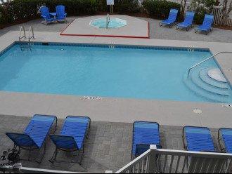 Balcony Overlooks Pool Area