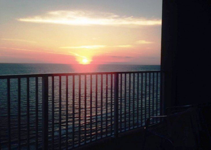 Sunset from Your Balcony.Emerald Isle,Panama City Beach,FL