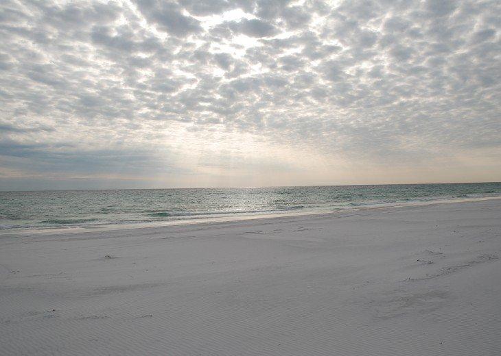 Winter scene at Miramar Beach, Florida.