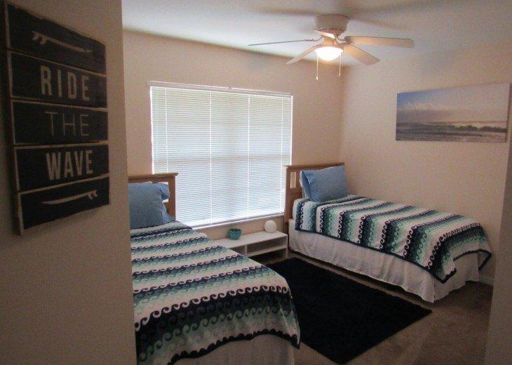 Teenage twin bed.
