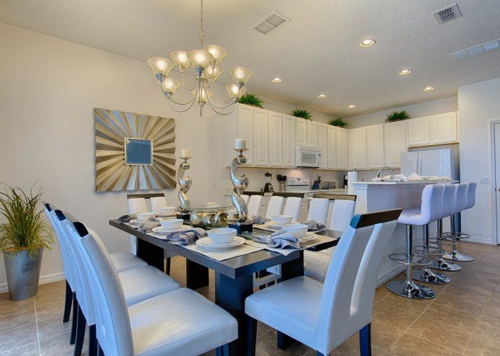Formal dining area for 8 people