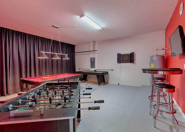 Professionally installed games room