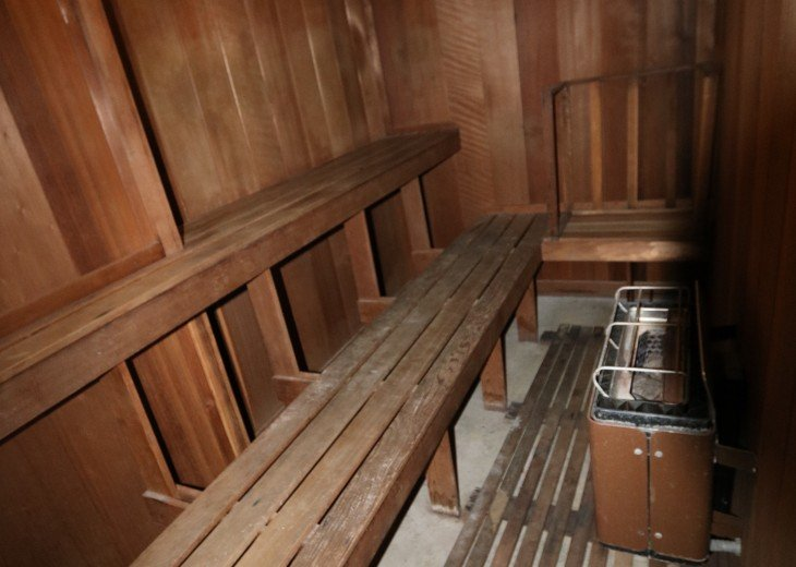 Sauna - there is a sauna in both locker rooms