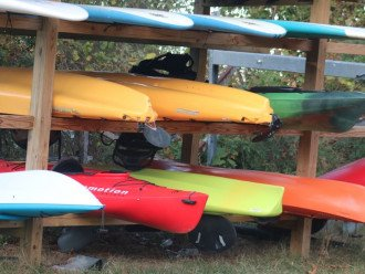 We have Kayak storage and a kayak launch pad so bring your Kayaks or rent them