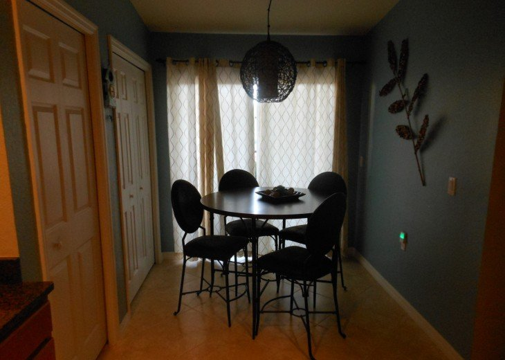 The kitchen seating area.