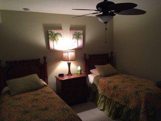 Second bedroom has 2 single beds.