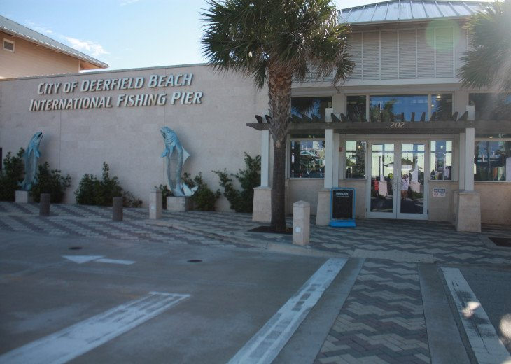 Entrance to Ocean front Cafe for Fishing Pier