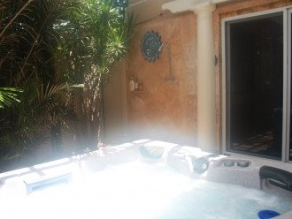 41 Jet Therapy Spa with adjacent outside heated shower