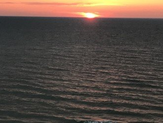 Sunset from Balcony looking west across Gulf of Mexico