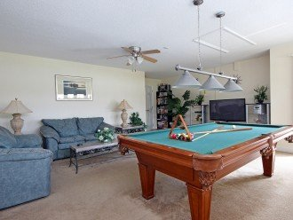 Games room and pool table