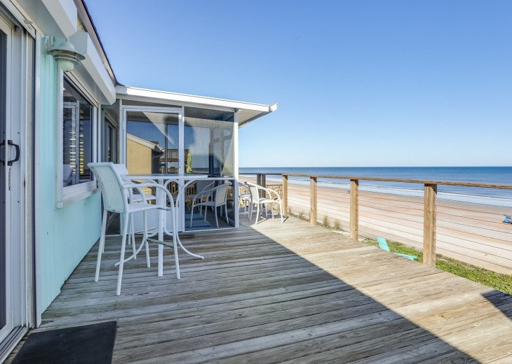 Upscale Oceanfront 1 Level Home-Great Views-Huge Deck-Screen Porch-Pets OK #25