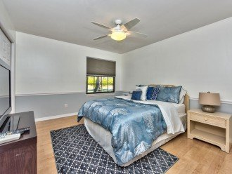 Queen Bedroom With Flat Screen TV