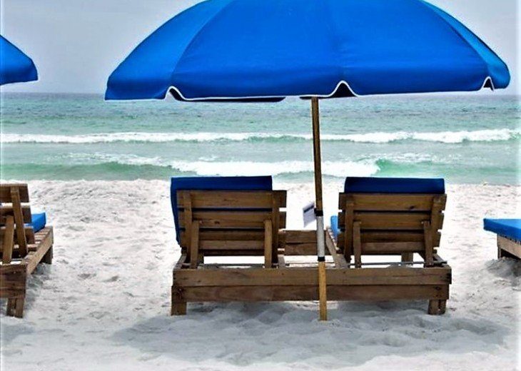 Your reservation comes w/ 2 Free beach chairs (March - October)