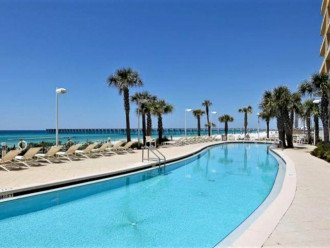 Poolside view of the west beachside pool