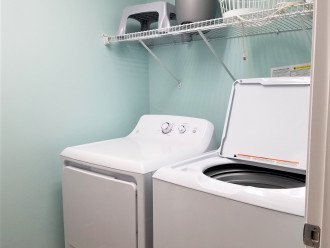 Convenient~ In unit laundry room with full size washer & dryer