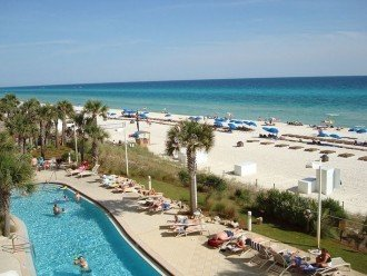 1 of 2 beach side pools~Olympic size~ with beach & Gulf in view