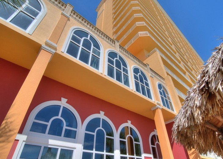 The beautiful Calypso Resort form the Tiki Bar area.