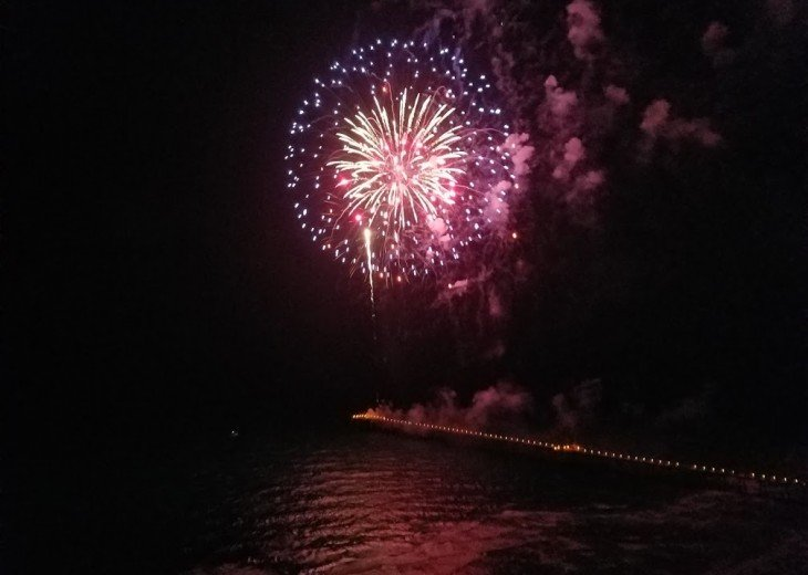 Sit on your own private balcony for the fireworks display from the City Pier