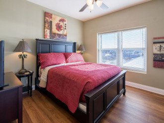 1st guest room w/ comfortable queen size bed & private Gulf of Mexico views