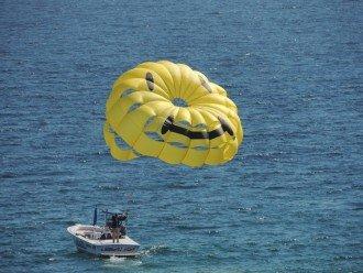 Fun on the beach at Calypso Resort! Parasailing, jet skiing, banana boats , etc.