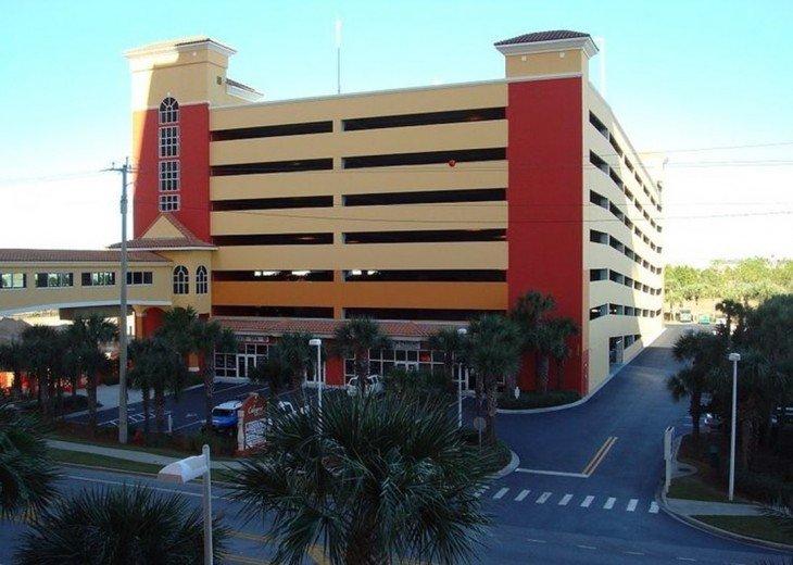 North Parking Garage for Calypso Resort with the 3rd floor skywalk