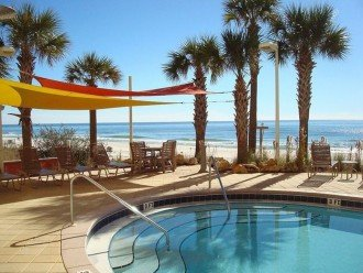 Poolside view of Calypso grounds & the Gulf of Mexico